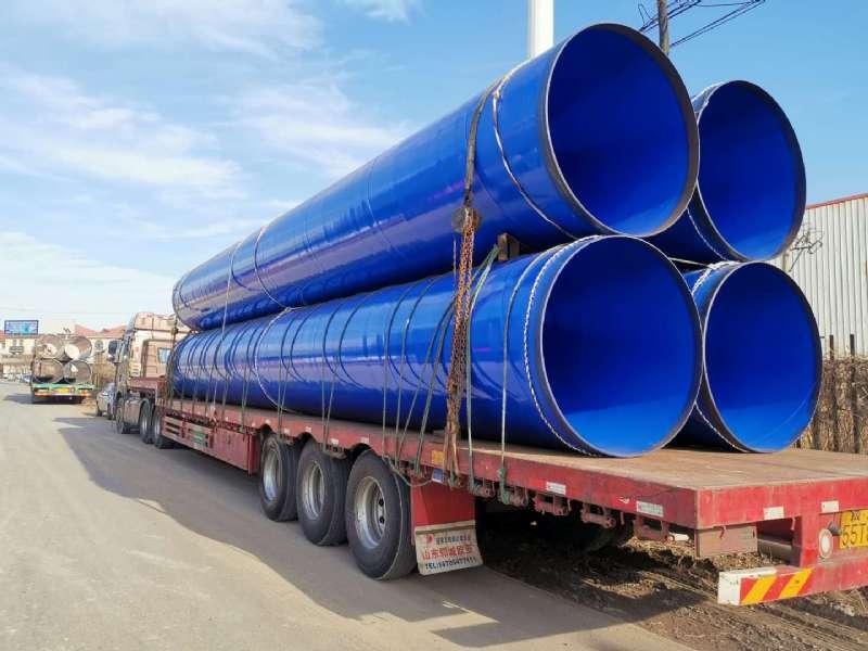 成都市大學生運動會-北部水廠大口徑涂塑鋼管(圖2)