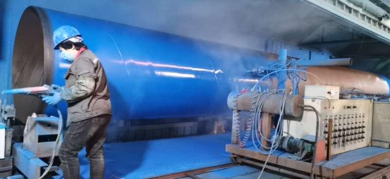 成都市大學生運動會-北部水廠大口徑涂塑鋼管(圖1)