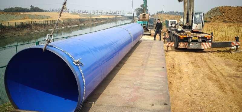 成都市大學生運動會-北部水廠大口徑涂塑鋼管(圖3)
